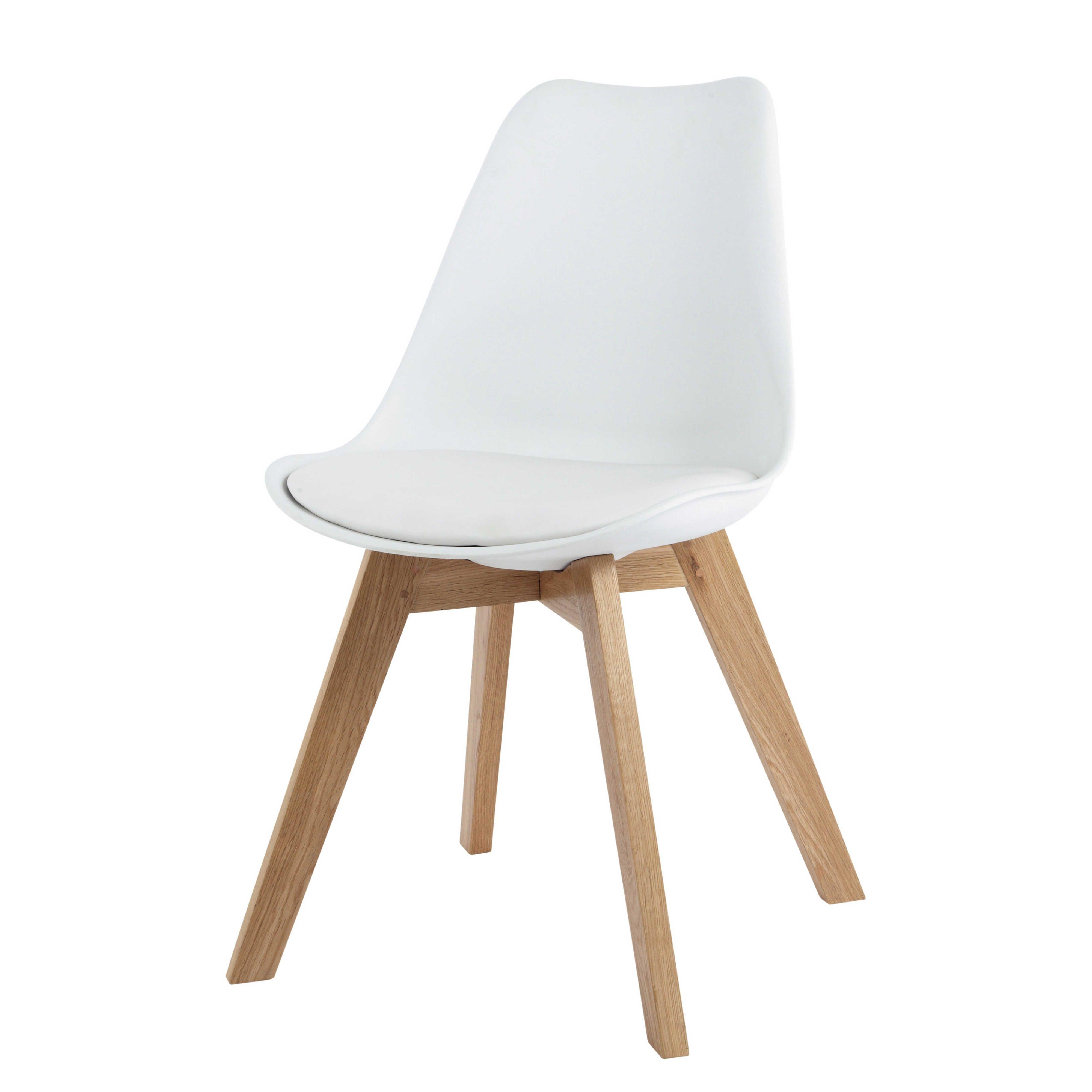 Silla Escandinava Blanca Con Roble Macizo Scandinavian Chairs Solid Oak Scandinavian Style