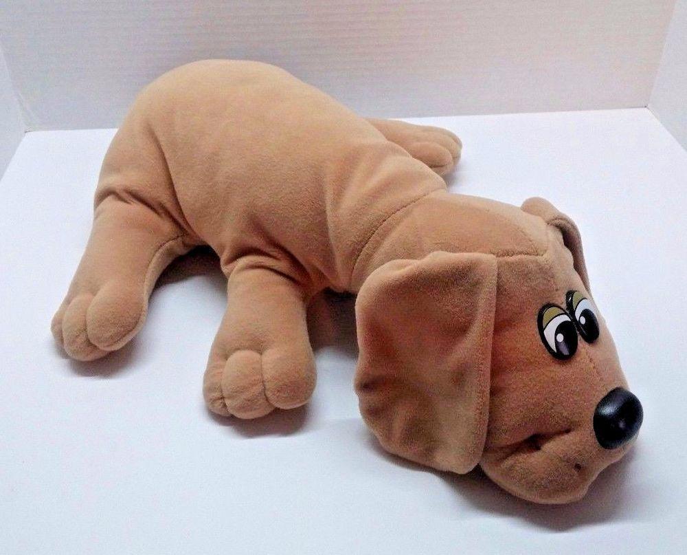 "Vintage Pound Puppies Brown Puppy Plush 18"" Tonka Stuffed Animal"