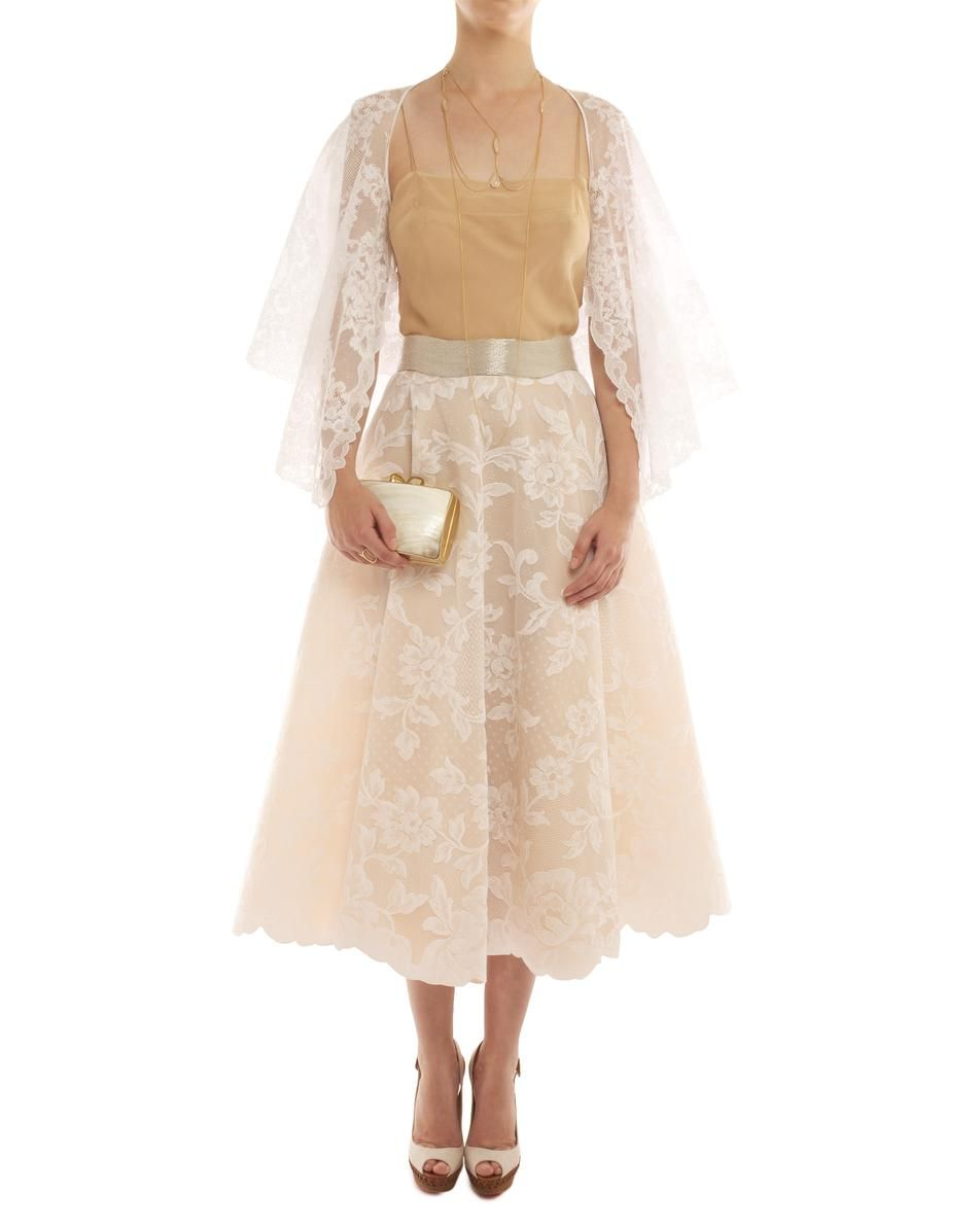 Lace dress with cape  alexismabille Lace Cape  Alexis Mabille at COUTURELAB