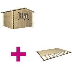 Holz-Gartenhaus LUGNY B 309 x T 320 cm, 19 mm + Fußboden - OOGarden
