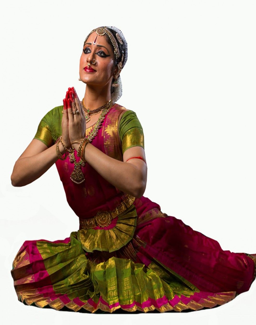 Images of bharata natyam dress color