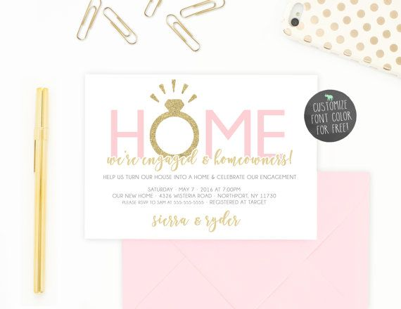 Engagement Party Invitation Housewarming Party By Trendyprintables