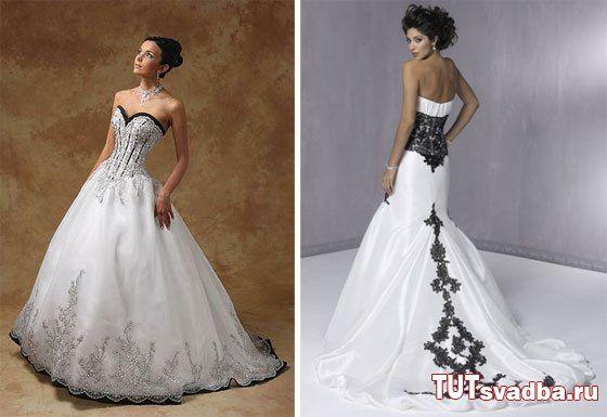 фото черно белые свадебные платья