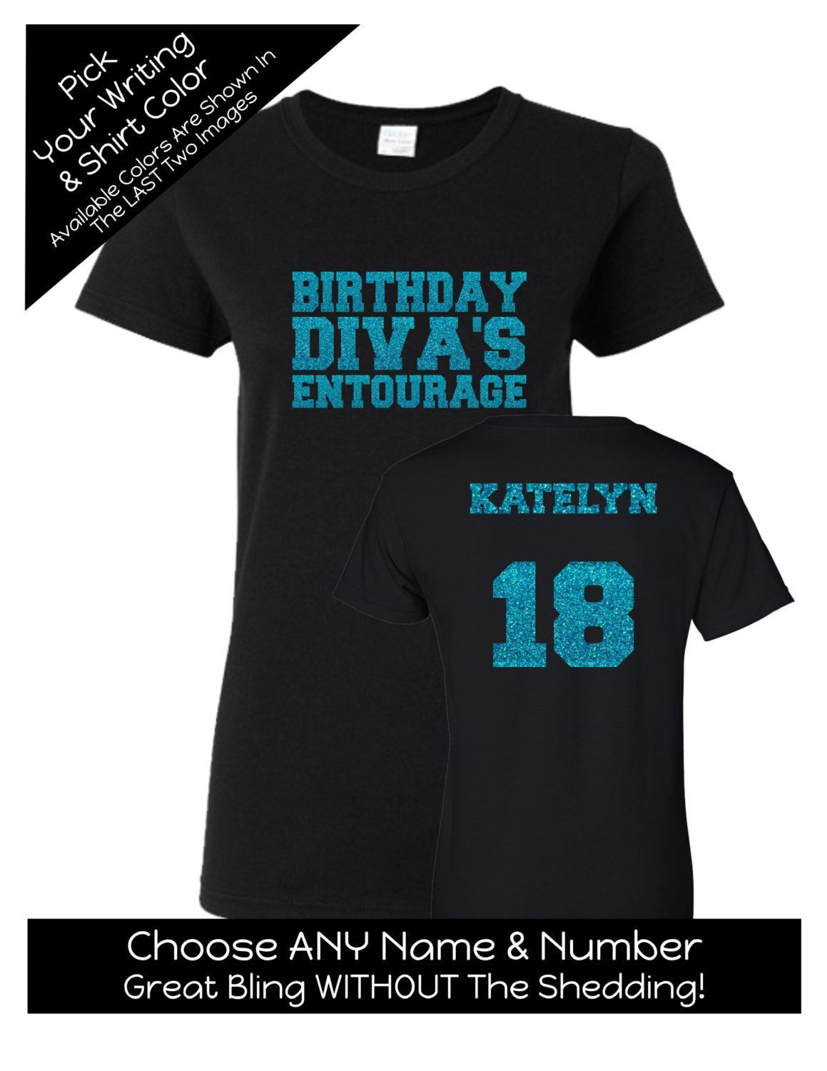 268761b4d Birthday Diva's Entourage Shirt - Personalize the Name, Age and Colors -  Match the Birthday Girl - Birthday Party by MagicalMemoriesbyJ on Etsy