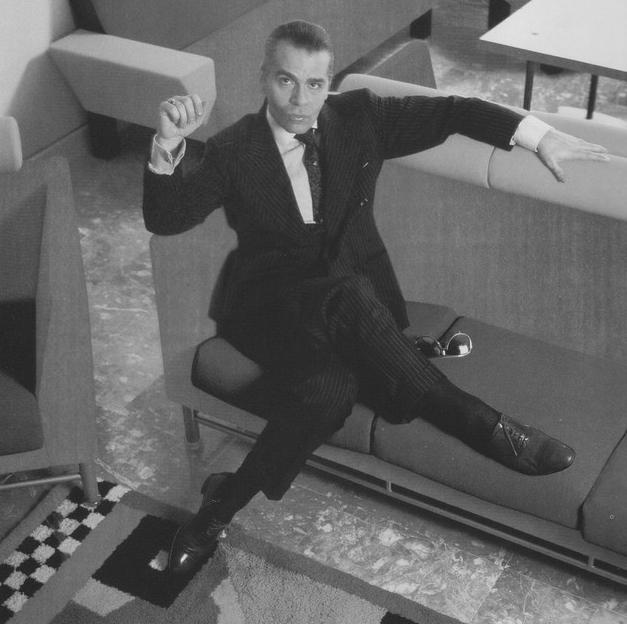 Karl Lagerfeld by Annie Leibovitz, 1984.