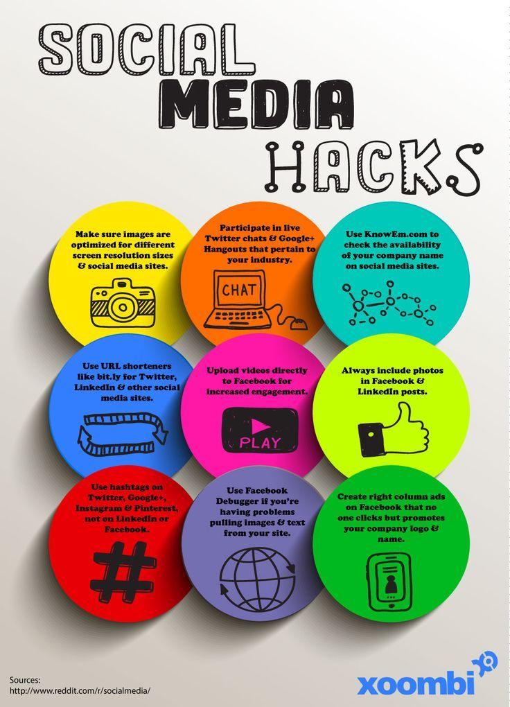 9 Social Media Hacks Social Media Social Media Daily Social