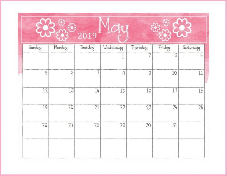 Printable May 2019 Desk Calendar Desk Calendars Desk Calendar