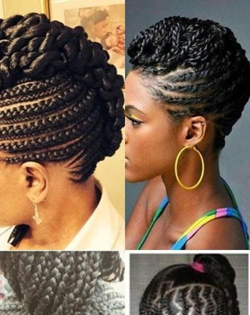 Straight Up Braids Beautified Hairstyles For Android Apk Braided Updo Hairstyle… in 2020 | Cool ...