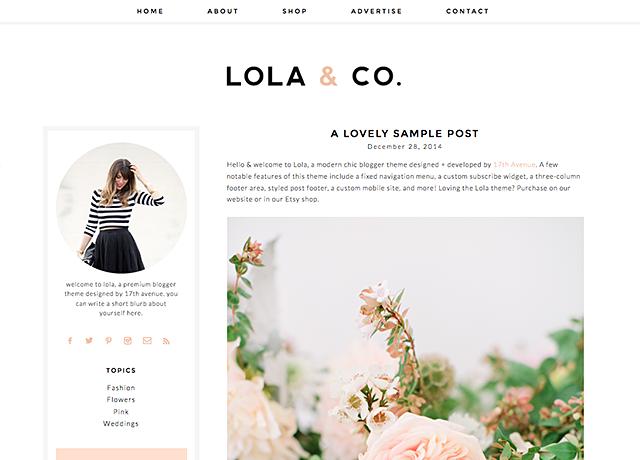 Lola Blogger Template | Pinterest | Template