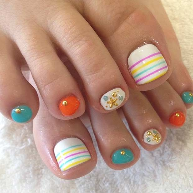 31 Easy Pedicure Designs For Spring Summer Toe Nails Pedicure