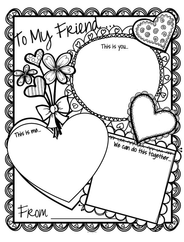 Valentine\'s Day card printable activity card. There are 3 windows ...