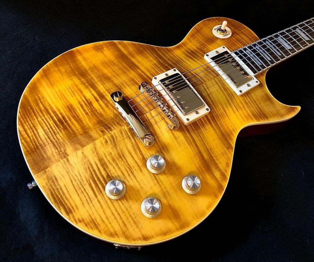Vintage Psv100afd G Pro Shop Paradise Amber Flame Top Guitar W Gold Hardware Bag Ebay In 2020 Gold Hardware Guitars For Sale Guitar