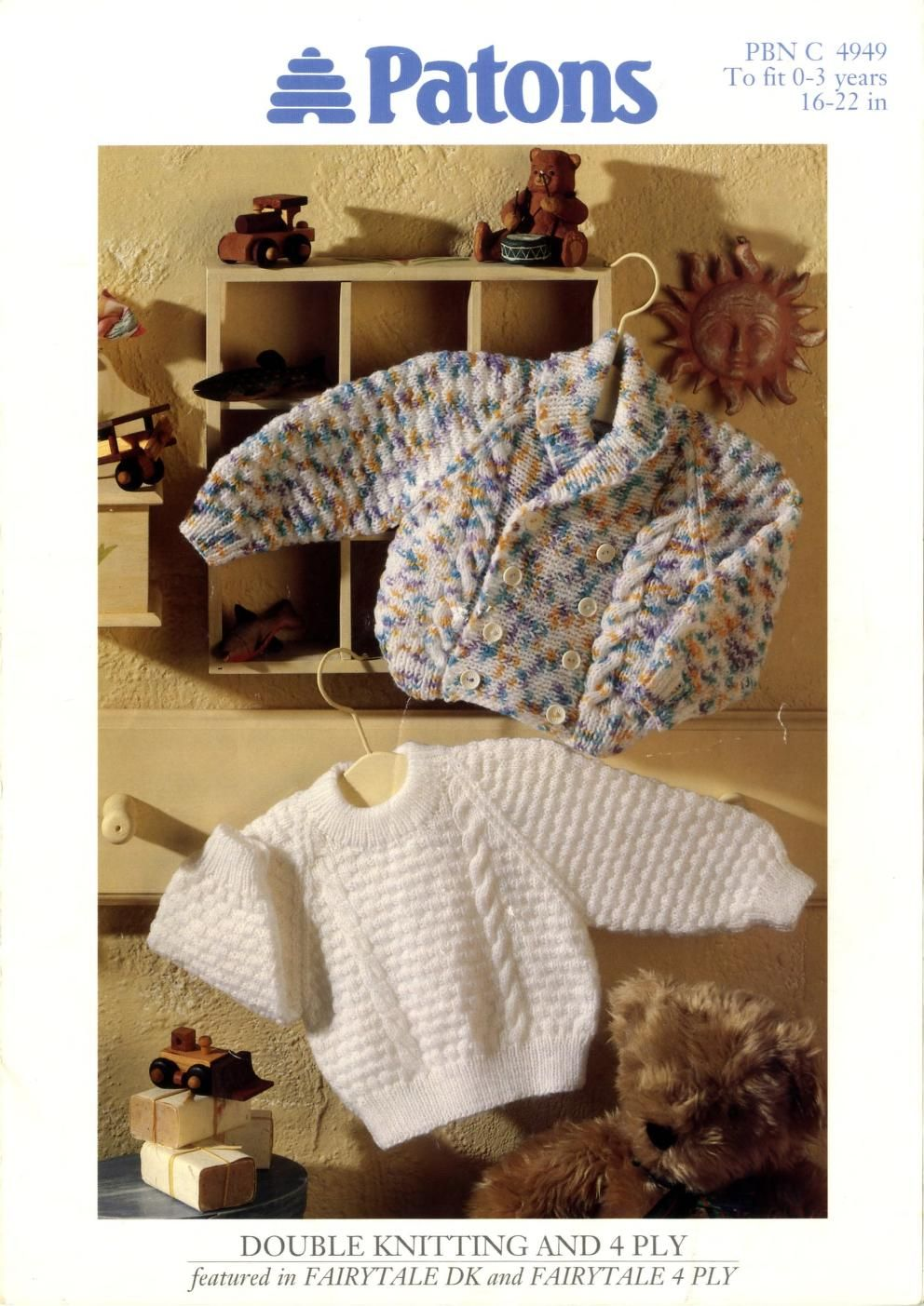 fc6885f8bbf0 Patons 4949 Sweater and Cardigan