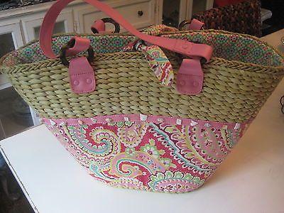 Vera Bradley XL Straw Beach Tote Handbag Bag Pink Paisley https://t.co/jpxHdjWImz https://t.co/StKeBWLHRZ