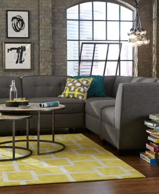 Harper Fabric Modular Living Room Furniture Collection With Sets