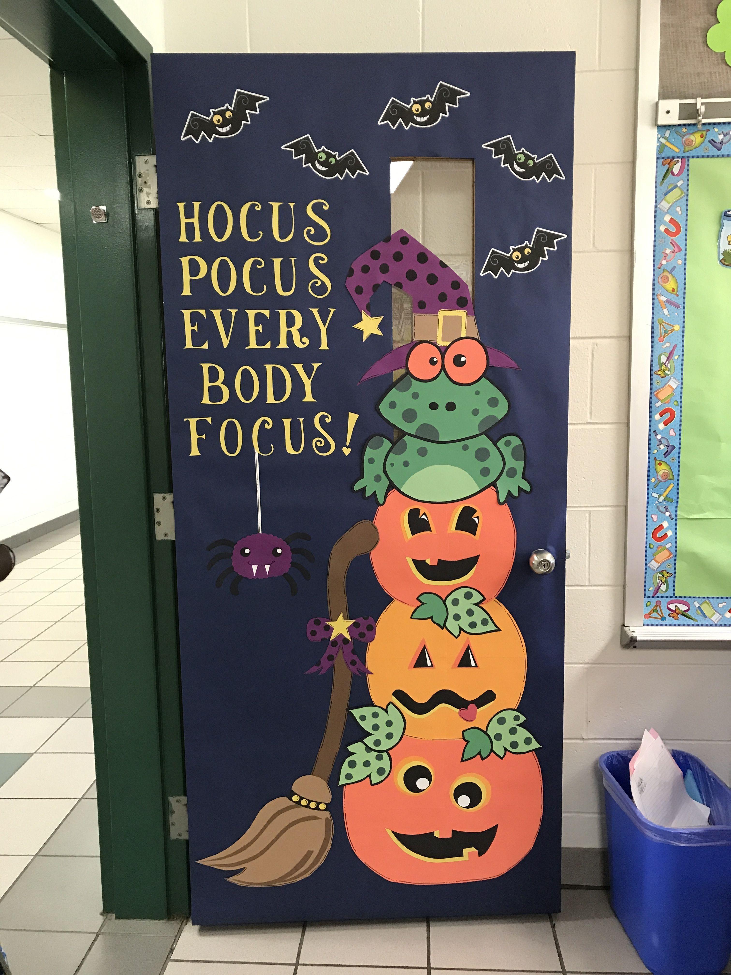 Halloween Door Decorations Classroom Halloween Decor In 2020 Halloween Classroom Door Decor Halloween Classroom Decorations Halloween Classroom Door