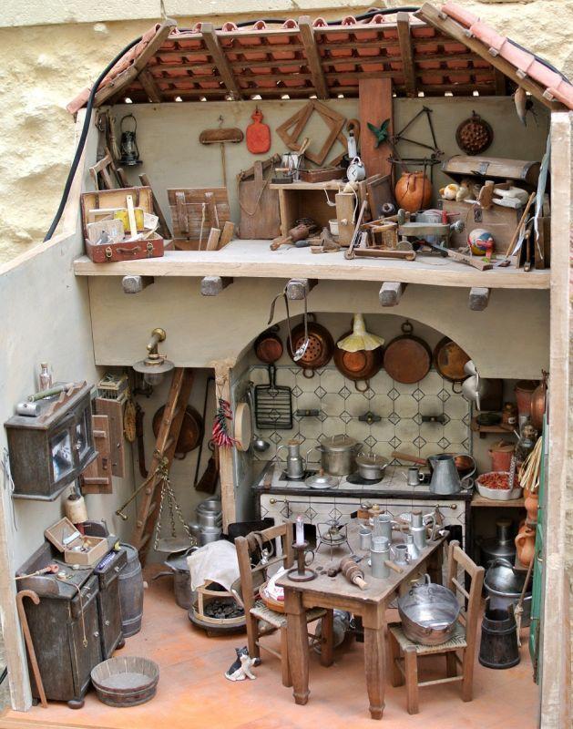 Miniatura - Antica cucina pugliese   Kitchens miniature ...