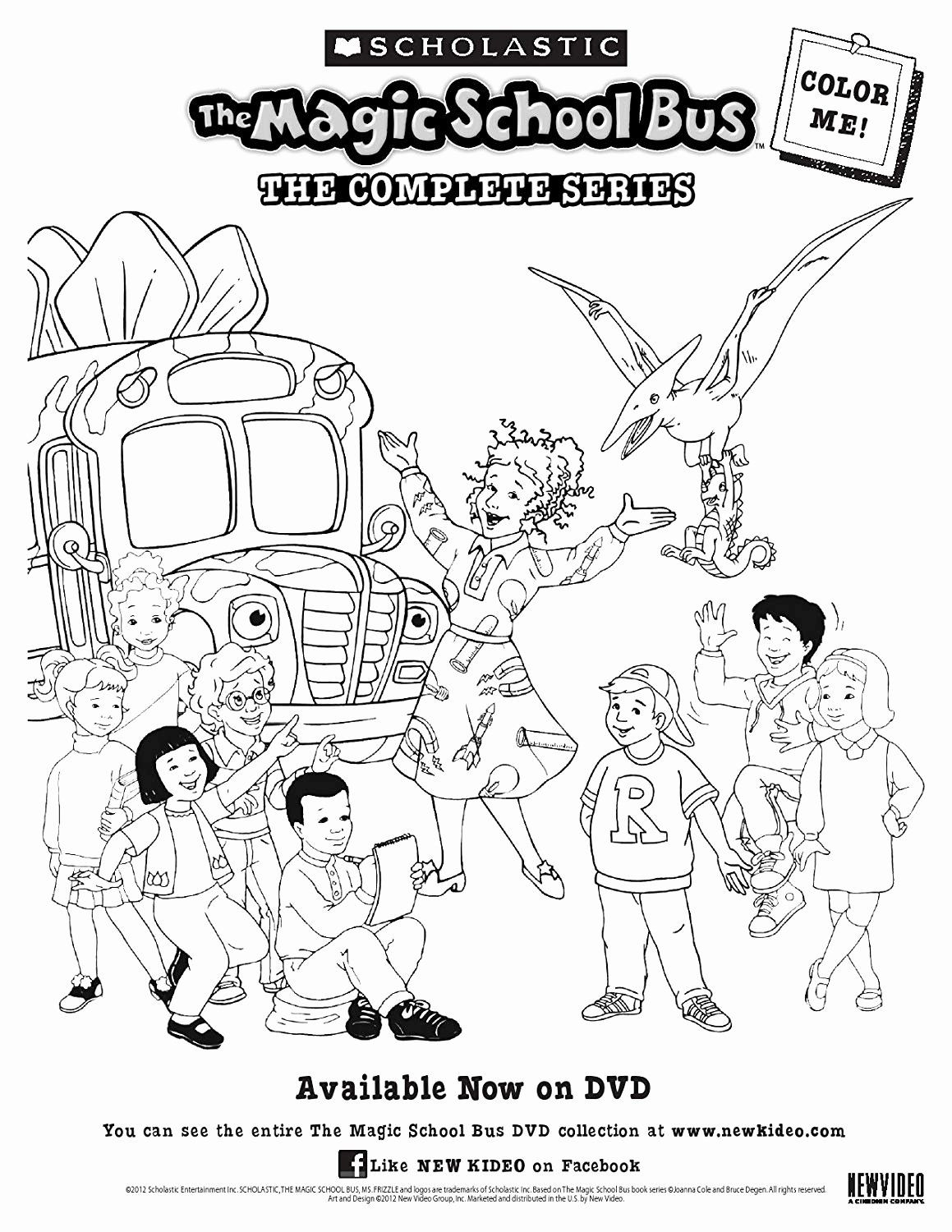 32 Magic School Bus Coloring Page In