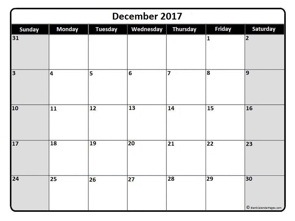 December 2017 monthly calendar printable #December2017 #calendar - calendar sample design