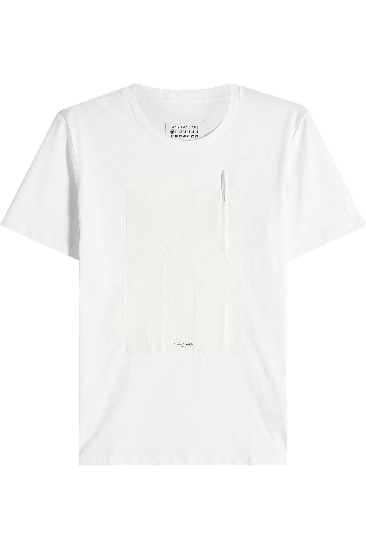 #AdoreWe #STYLEBOP.com (FR/NL/IT) Shirts & Tops - Maison Margiela Maison  Margiela Cotton T-Shirt - AdoreWe.com