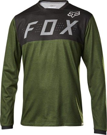 Fox Men s Indicator Bike Jersey Heather Dark Fatigue XL  83857e47e