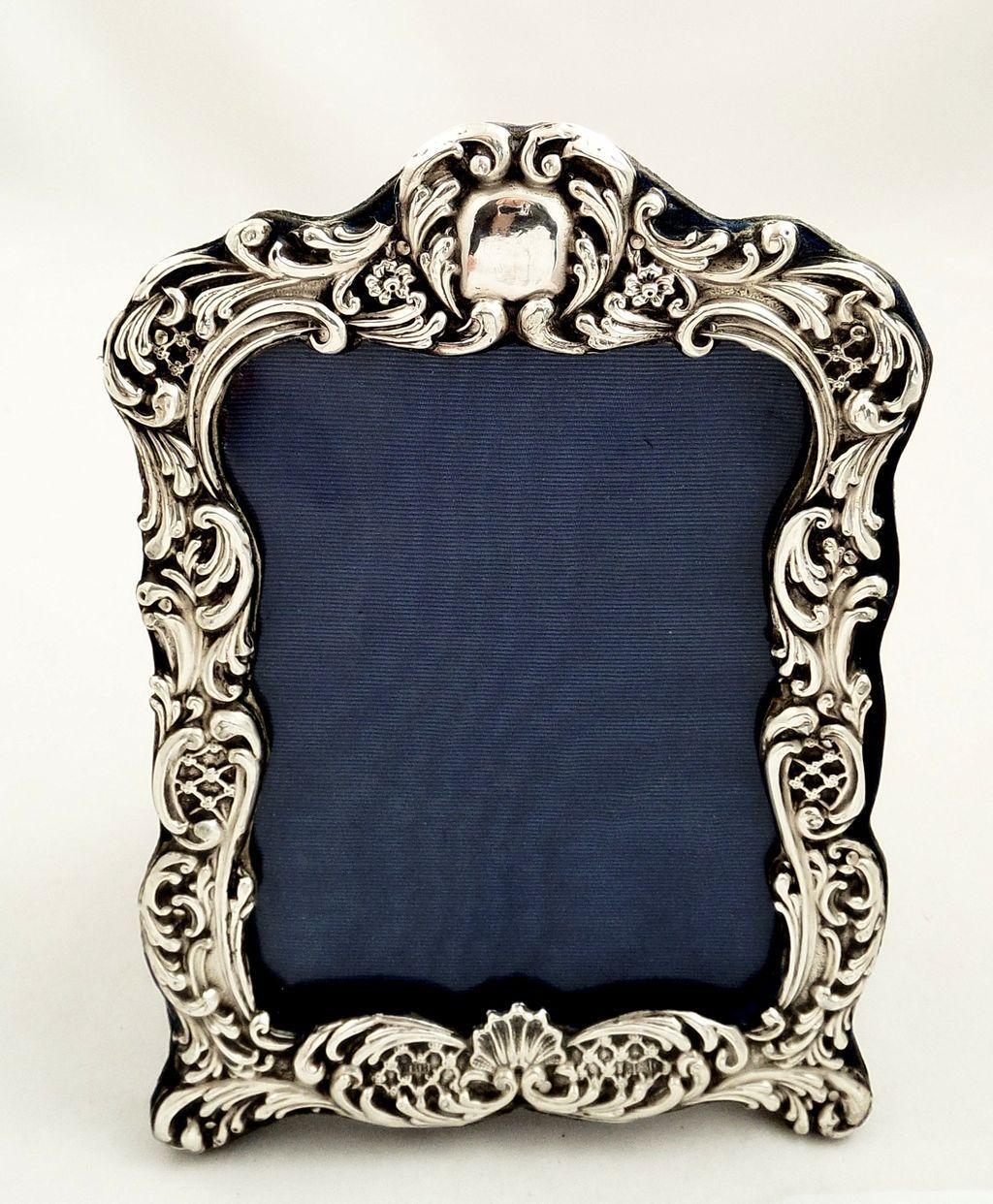 816df4d5bdc Antique Edwardian Sterling Silver Photo Frame 1902