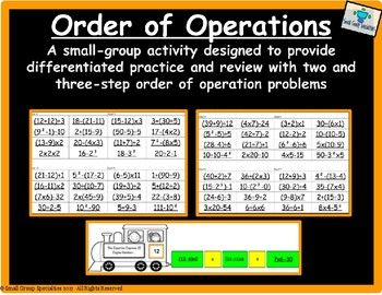 Math Matches - Order of Operations | - Math Explorations
