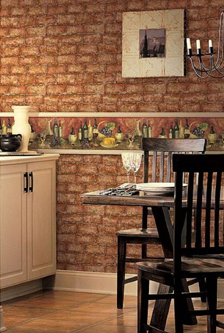 Top 10 Wallpapers For Your Kitchen Top Inspired Brick Wallpaper Kitchen Kitchen Wallpaper Brick Wallpaper