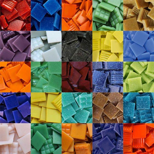 Small Mixed Blue 8mm Glass Mosaic Tiles for Art /& Craft Supplies