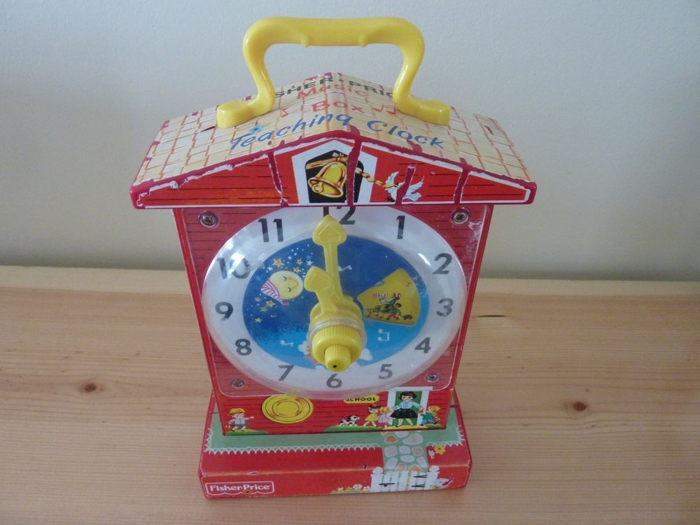 FISHER PRICE 1968 VINTAGE TEACHING CLOCK~VERY GOOD ...