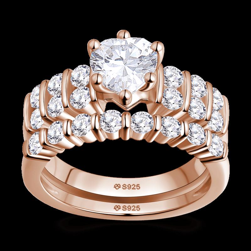 Female Forever Love Wedding Ring Set Rose Gold · Engagement Rings Under 200Rose  ...