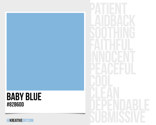 How does the color baby blue 82b6dd make you feel what - How colors make you feel ...