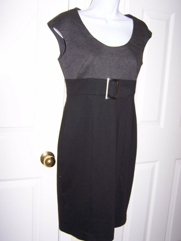 396dcd2cf50 Evan Picone Women s Dress S Career Sleeveless Black Charcoal Lined NWOT   EvanPicone  Sexy  WeartoWork