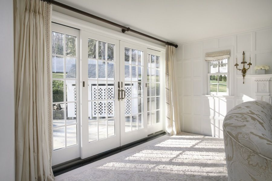 Anderson frenchwood gliding patio door beautiful for In swing french patio doors