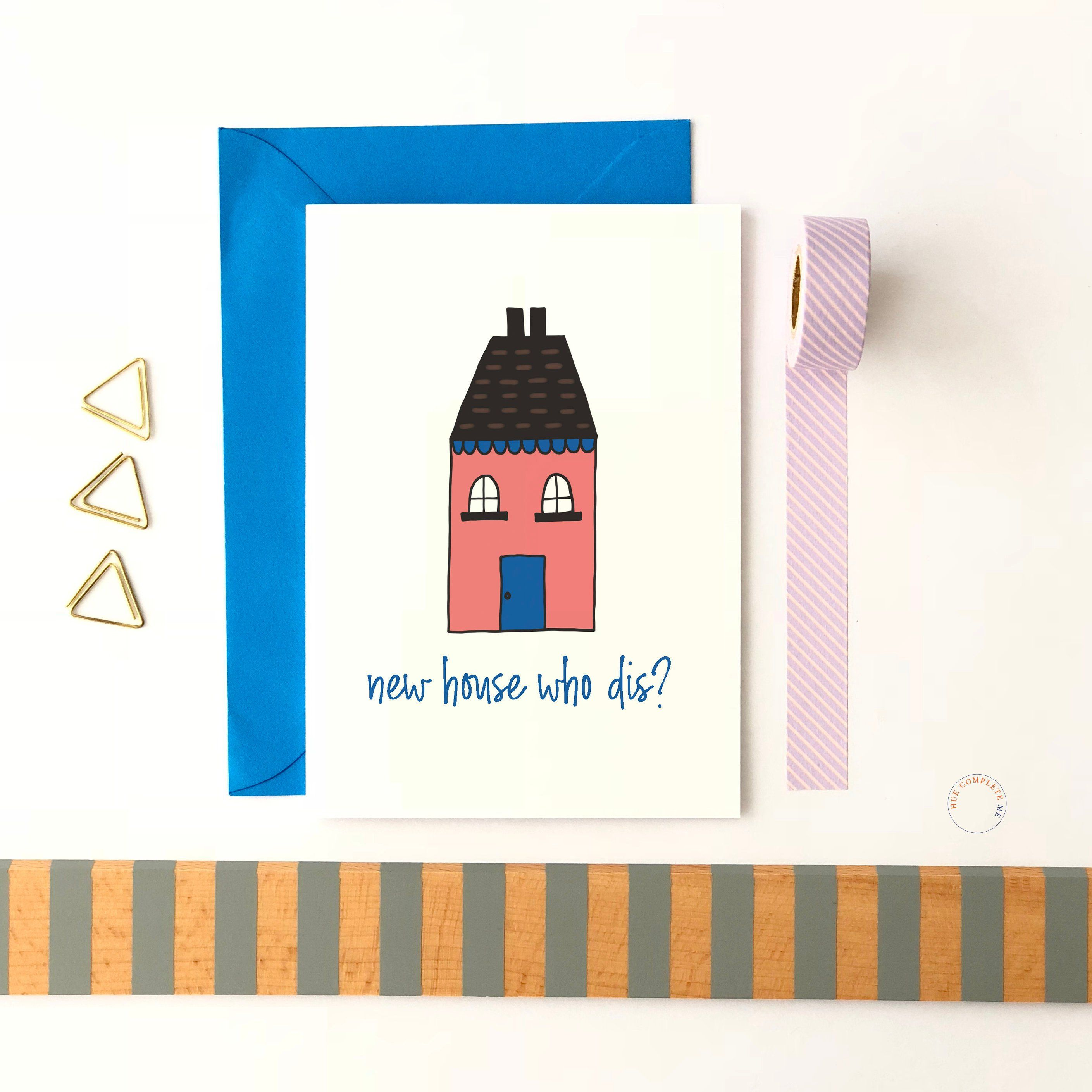 New home new house card funny humerous  contemporary modern