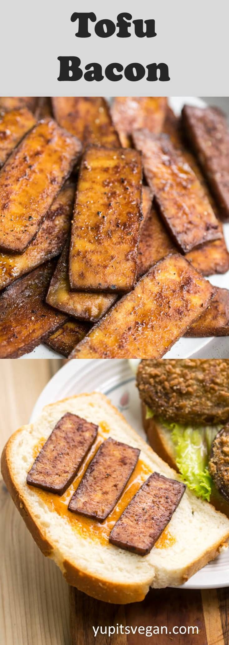 30 Minute Tofu Bacon A Chewy Smoky Savory High Protein Vegan Bacon Substitute That S Great On Blt Sandwiche Vegetarian Bacon Tofu Recipes Vegan Vegan Bacon