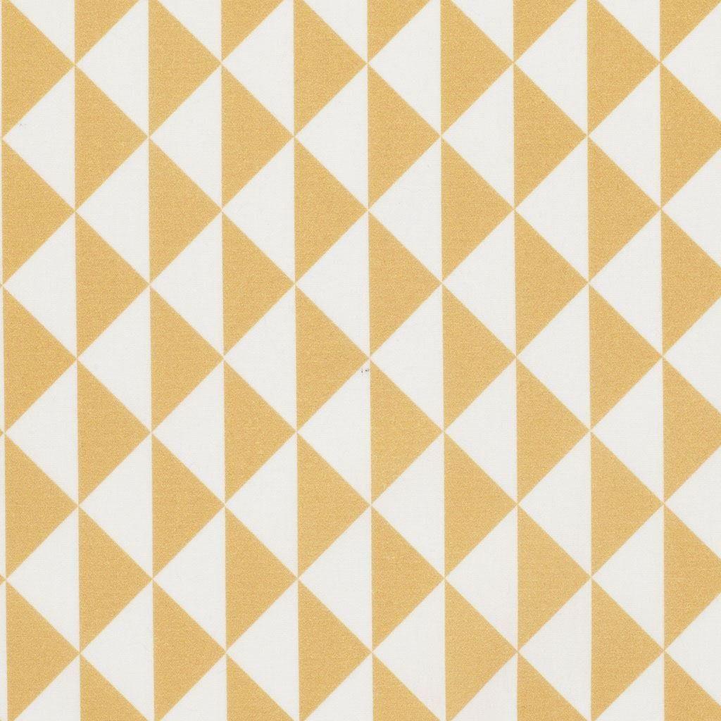 Tissu coton triangles vintage tissus maison mondial for Deco quadrilobe