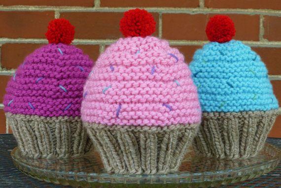 INSTANT DOWNLOAD Cupcake Hat Knitting por BoPeepsBonnets ...