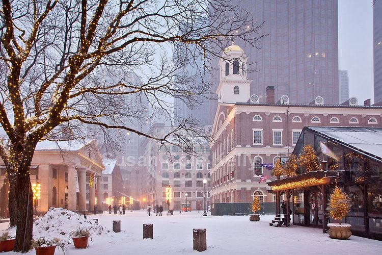 Christmas In Boston Images.Faneuil Hall In Snow New England Living In 2019