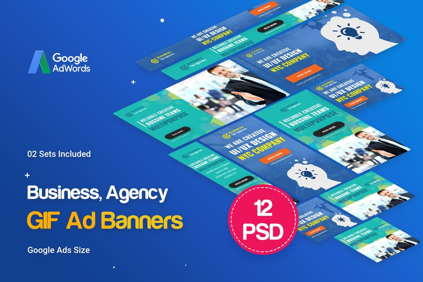 Animated gif business agency banners ad by idoodle on