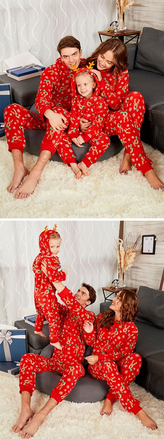 Rudolph Onesie Christmas Matching Family Pajama  25f5132f0