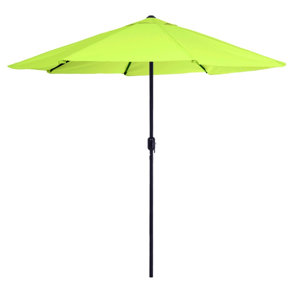 Amazing 9u0027 Aluminum Patio Umbrella With Auto Crank Lime Green   Pure Garden, Lime  Green