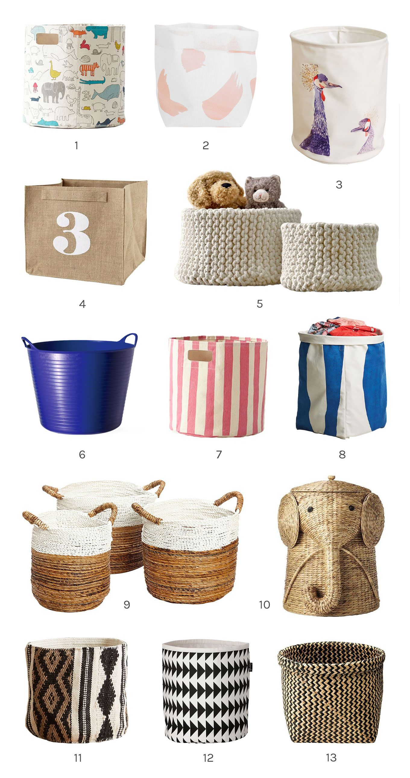 13 Cute Storage Bins A Cup Of Jo Storage Bins Canvas Storage Kid Toy Storage