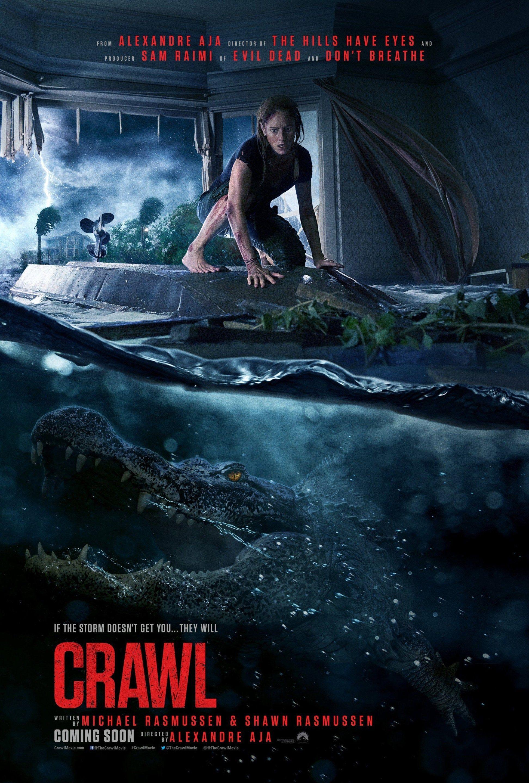 Crawl Movie Poster Glossy High Quality Print Photo Wall Art Kaya Scodelario Sizes 8x10 11x17 16x20 22x28 24x36 27x40 1 Full Movies Film Movie Posters