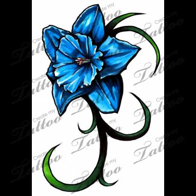Blue Daffodil Daffodil tattoo, Narcissus flower tattoos