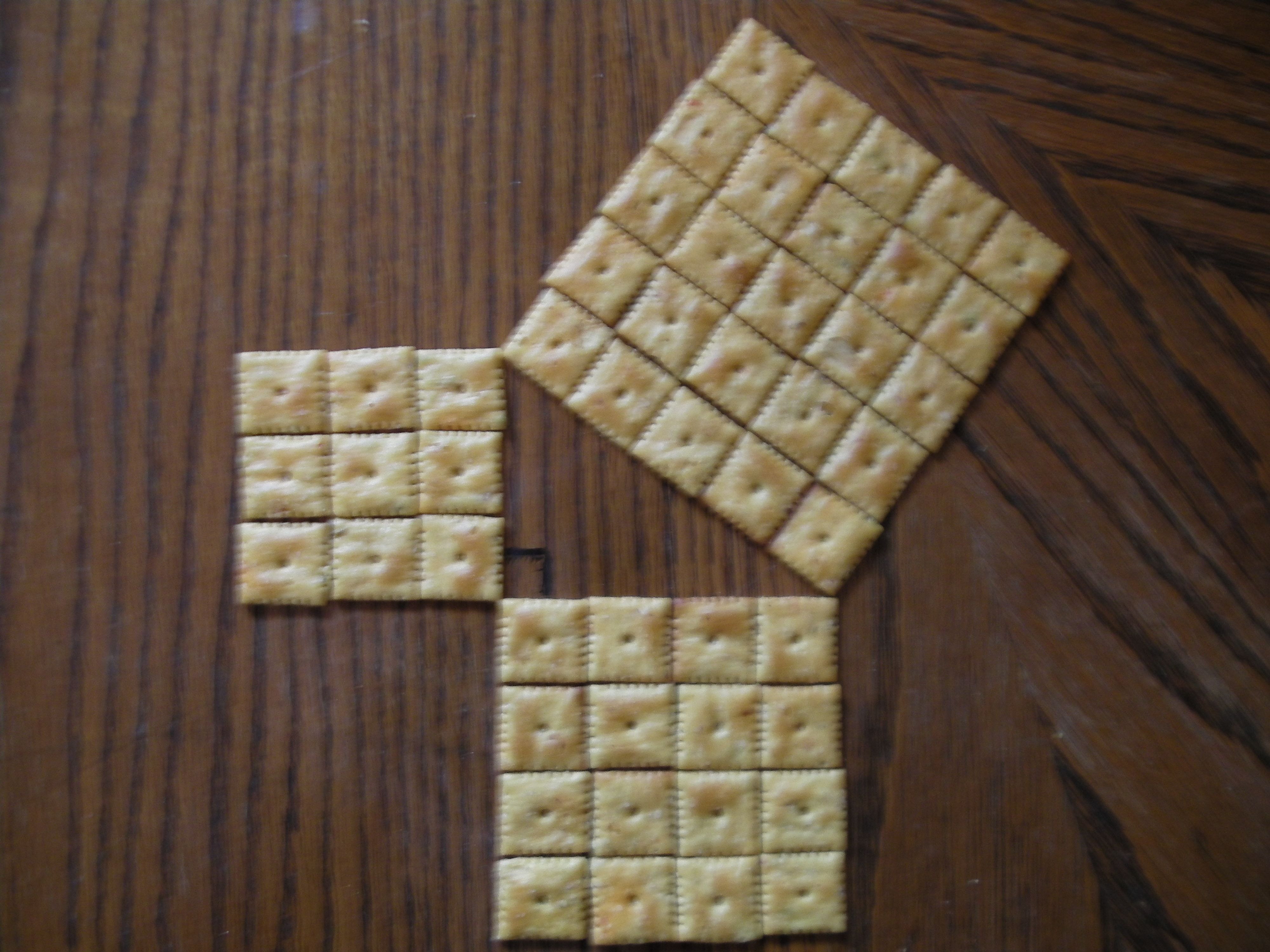 Fresh Ideas - Pythagorean Theorem with cheezits (With images