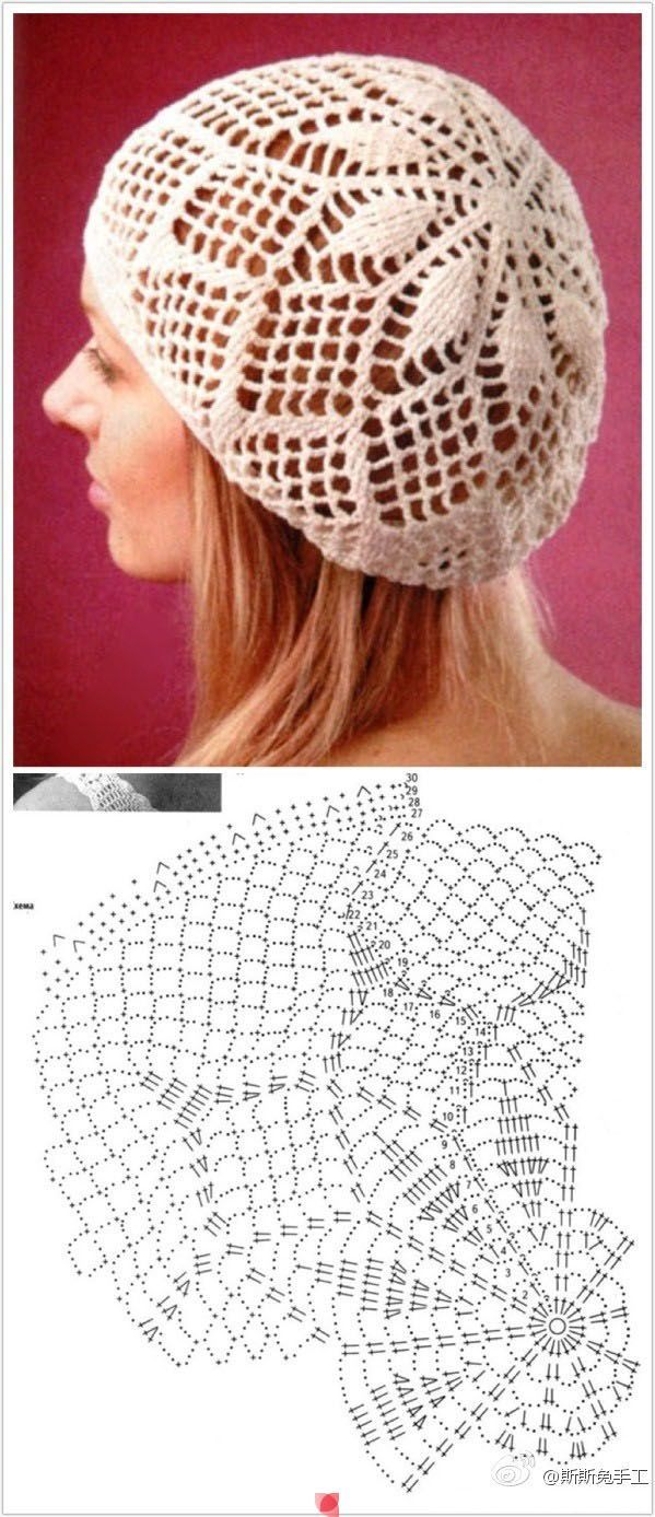 Patrón de Gorra de Crochet | tejidos | Pinterest | Patrones, Gorros ...