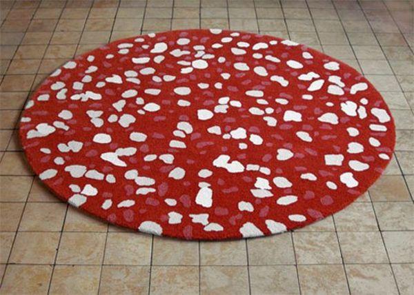 Schön runder teppich rot deutsche deko runde