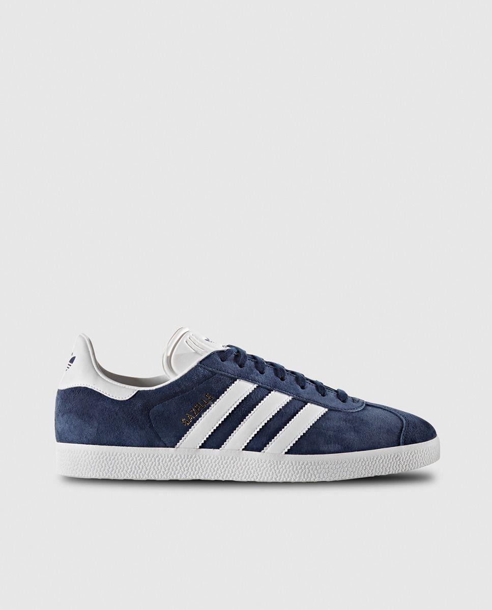 online store 0dcec 33781 Zapatillas deportivas de mujer azules con franjas blancas Gazelle Adidas  Originals