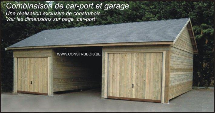 Garages Bois Toit Plat Prefabriques Garage En Bois Deux Versant Garage Prefabrique Prefabrique Garage